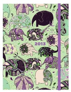 2013 Weekly Planner 6x8 Flexi Elephant Train Engagement Calendar