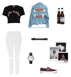 Untitled #78 by jaytranx on Polyvore featuring polyvore Mode style River Island Topshop Vans CLUSE Diane Kordas Fujifilm fashion clothing