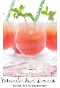 On a hot summer day, there's nothing like this Watermelon Mint Lemonade! It's refreshing, delicious, easy and make-ahead. #watermelonmintlemonade #homemadelemonade #summerdrinks Watermelon Mint Lemonade, Frozen Watermelon, Against All Grain, Summertime Drinks, Refreshing Summer Drinks, Mojito, Sangria, All You Need Is, Drinking