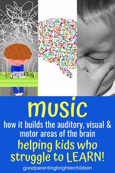 Looking for something to help your child that struggles academically? Music is the answer! Here are 4 strategies & activities that will build your child's brain and help them achieve academic success. Find out why music is the MOST powerful activity to increase learning in kids. #musicandlearningdisabilities #learningdisabilities #typesoflearningdisabilities #musicstrategies #musicactivities #symptoms #dyslexia #musicchildren Music Activities For Kids, Preschool Special Education, Movement Activities, Preschool Games, Brain Activities, Music For Kids, Kindergarten Activities, Infant Activities, Music Education
