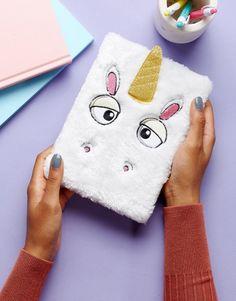 NPW cuaderno a5 con diseño de unicornio de peluche