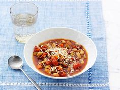 Make this hearty Beef and Cannellini Bean Minestrone ahead of time and simply warm it up for dinner after a busy day.