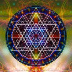 Arcturus Mandala Original spirituel psychédélique par Pumayana