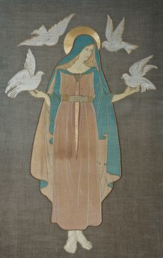 Arts & Crafts silk embroidery