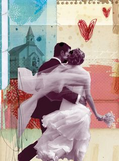 Wedding Listings New York Magazine - Sarah Hanson - Debut Art Mixed Media Collage, Collage Art, Lovers Day, Multiple Exposure, Collage Illustration, Retro Art, Photomontage, Art Google, Pop Art