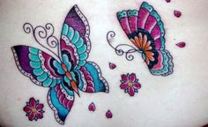 Tatuagem de borboleta delicada: opções de desenhos