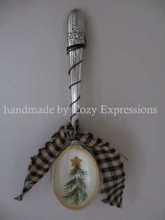 Hand Painted Vintage Spoon by CozyExpressions on Etsy, $9.99