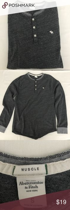 Abercrombie & Fitch long sleeve crew neck. Abercrombie & Fitch long sleeve crew neck.  Never nice condition and super soft heather grey. Abercrombie & Fitch Shirts Tees - Long Sleeve