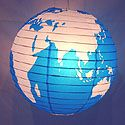 Paper Lanterns: The Globe: Earth hanging Chinese paper lantern