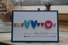 different size hearts .. great for valentine's day card!