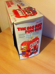 Bluebird Big Red Fun Bus Boxed with Figures & Accessories, Classic 1980s Toy | eBay