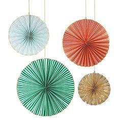Giant Stripy Pinwheels Set of 4 Huge Meri Meri Pinwheels in 4 | Etsy