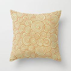 Spirals Throw Pillow by Speakerine / Florent Bodart - $20.00