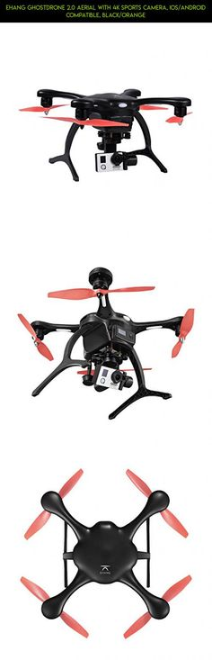 Ehang GHOSTDRONE 2.0 Aerial with 4K Sports Camera, iOS/Android Compatible, Black/Orange #gadgets #ehang #kit #racing #technology #parts #2.0 #tech #plans #fpv #camera #products #shopping #drone