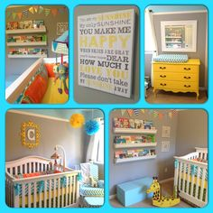 Cameron's bright and cheerful DIY baby boy nursery