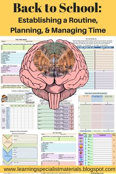 Learning Specialist and Teacher Materials - Good Sensory Learning: Back to School: Establishing a Routine, Planning, and Managing Time