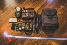 Check out the wedding photography gear of wedding photographer Joe Hendricks. Learn why he chooses Nikon, Sigma, Yong Nuo, Westcott, Think Tank and more.