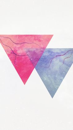 Double Triangles. Simple Geometric Shape iPhone wallpapers for minimalists. @mobile9