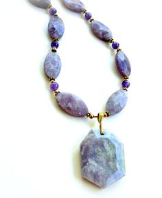Natural  Facet Cut Lavender Charoite River by BootsiesWorld, $89.99