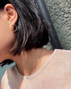 Mejuri Gold Vermeil Loop Earrings @ninahuynh_