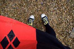 Loot Wear Harley Quinn skirt with Batman Converse