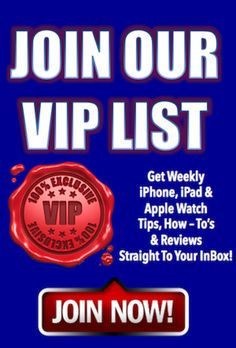 You're Invited To Join Our VIP List! Get FREE Weekly iPhone, iPad and Apple Watch Tips, How-To's & Reviews! JOIN OUR VIP LIST!  It's FREE!  http://myapplegadgets.com/subscribe-2/ #applewatch #iphone #apple