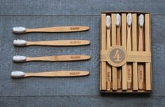 Izola Wooden Tooth Brushes