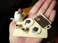 Thoughts and Projects...: Mini Food: A cuppa with some brownies...