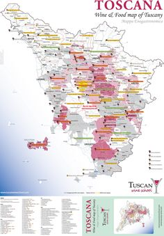 Tuscan Wine & Food Map | Life is Grape in Tuscany- Dream Trip! Wine Tasting…