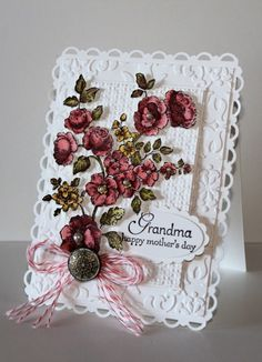 This could be an Anniversary card also. Or even Mother's Day {mine is in heaven, but some one out there still has a living Mother or Grandmother.