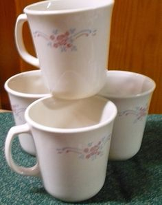 4  Corning  Symphony  Beige  Coffee Cups by pittsburgh4pillows, $8.00