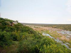 From the high perch of the camp's lookout over the Olifants River, you can see elephants picking their way across the streams and hippos in the water. Kruger National Park, South Africa, Travel Destinations, Bucket, Country Roads, Camping, Mountains, Water, Travel