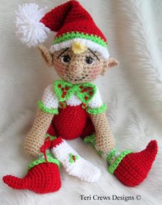 Looking for your next project? You're going to love Simply Cute Elf Crochet Pattern by Teri by designer Crews.