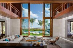 Minimalist Home Dezine: Beach House - Minimalist Home Design Beautiful Beach Houses, Dream Beach Houses, Beautiful Living Rooms, Beautiful Homes, Design Living Room, Home Living Room, Minimalist House Design, Minimalist Home, Porches