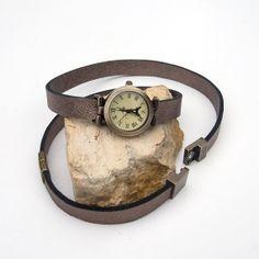 Leather watch bracelet I love Paris watch Antique by Jullyet, $36.00