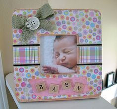 Baby Frame and Love Blocks - Crafts by Amanda