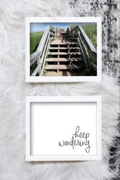 Items similar to Keep Wandering Printable Wooden Stairs Photo, Beach Photography, Inspirational Quote Printable on Etsy Printable Quotes, Printable Wall Art, Rgb Color Space, Mermaid Invitations, Wooden Stairs, Holiday Gift Tags, Affordable Home Decor, Typography Art, Beach House Decor