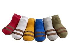JazzyToes Baby 6 Pair Socks Sandals - Boys, 12-24 Months JazzyToes. $27.00. 75% cotton, 20% nylon, 5% spandex. 12-24 months, 6 colors in one box, 6 pairs in a box set. Elasticized, non-skid grip on the bottom. Made in China. No ornamental decoration to cause choking hazard. Ready-to-mail gift box