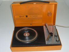 Tourne Disque Vinyle Philips 22 GF 210 Orange pas cher - PriceMinister