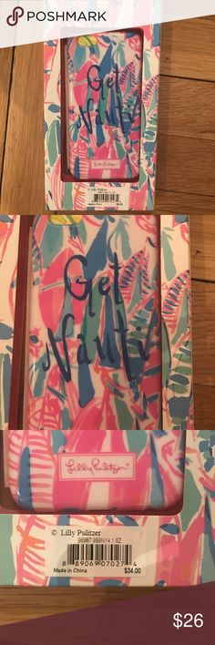 """Lilly Pulitzer iPhone 6/6S Cover- Out to Sea - NWT  Lilly Pulitzer iPhone 6/6S cover  Details:  Size: fits iPhone 6/6S Condition: Brand new with tags  """"Out to Sea"""" print Holes for access lock button and camera Cute print with sailboats- includes text """"Get Nauti"""" Perfect for: Keeping your phone looking great and safe! Lilly Pulitzer Accessories Phone Cases"""