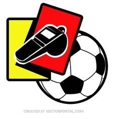 Yellow and red card vector image.