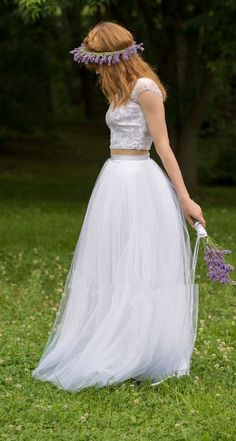 $159 Customize Long Wedding Tulle Skirt,5 layers tulle