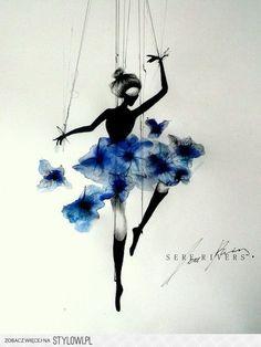 Błękitna baletnica na Stylowi.pl