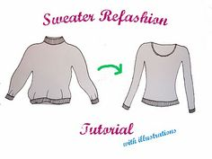 I have a beautiful cashmere I picked up at a thrift store for $1.50!! It was ugly and sad, but it's cashmere! I will definitely do this to make it a wearable sweater again!
