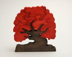 Escandinavian Tree of Wishes - Good Luck Gift - Wooden Home Decor Puzzle - Oak #teampinterest