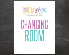 Lularoe Changing Room Sign PRINTABLE PDF files by designOrganized