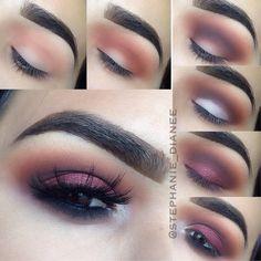 smokey plum eye Love Makeup, Makeup Tips, Beauty Makeup, Makeup Looks, Makeup Stuff, Makeup Ideas, Beauty Tips, Makeup Tattoos, How To Apply Makeup