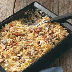 """This creamy tetrazzini has been one of my favorite recipes for over 20 years. I always hear, 'Yum. Is there anymore?' Even overnight guests ask for leftovers the next day!"" —Amanda Hertz-Crisel, Eagle Point, Oregon"