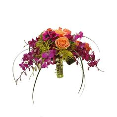 Definitely want a crescent shaped bouquet!
