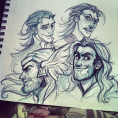 stripesandteeth:  Welp, can't draw on my pc yet so I decided to dick around with Thor and Loki in my sketchbook. I wanna make Avengers stuff soon so I need to break these guys in eventually haha. Also I have Thorki feels..
